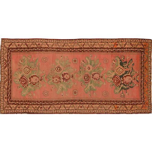 Floral Caucasian Rug, 4'2'' x 9'4''