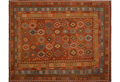 Afghan Maimana Kilim, 10'4