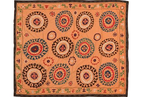 Uzbek Suzani, 6' x 6'11