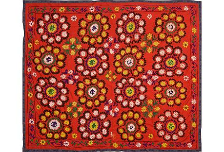 Uzbek Red Suzani