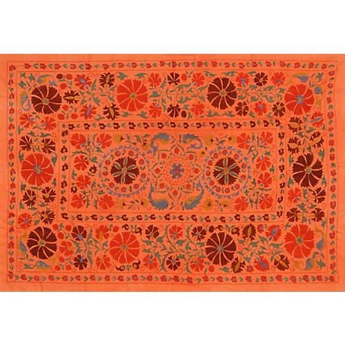 Uzbek Orange Suzani