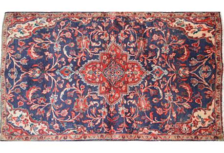 Persian Sarouk Rug, 3'3''x 6'