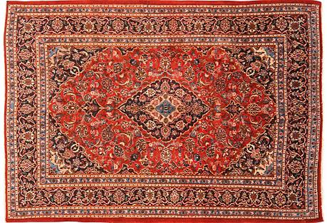 Persian Sarouk Rug, 6'8'' x 9'5''