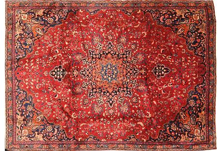 Persian Sarouk Rug, 7'6'' x 10'2''