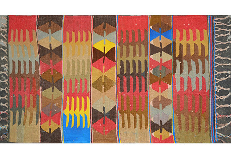 Turkish Kilim, 4' x 5'1''