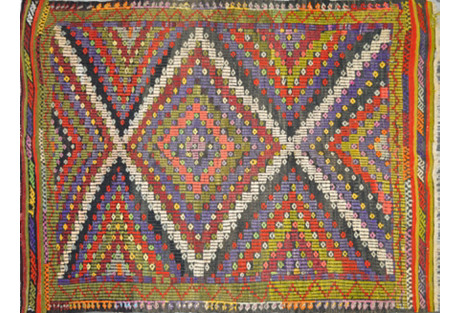 Turkish Kilim, 3'2'' x 3'3''