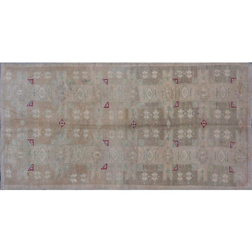 "Turkish Oushak Rug, 5'3"" x 10'10"""