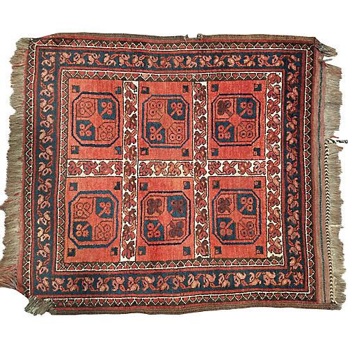 Antique Turkoman Rug,2'10x3'1