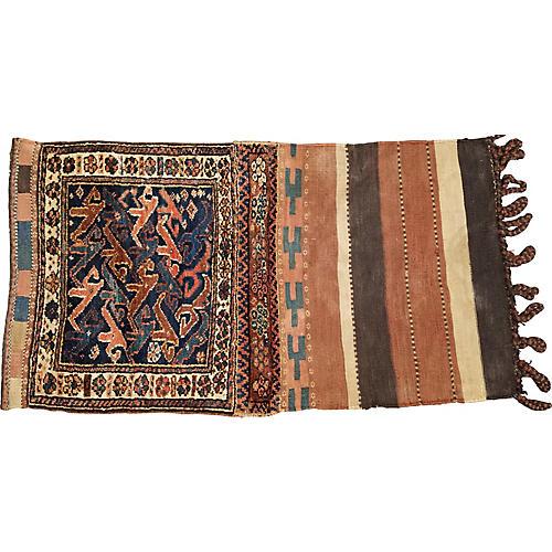 "Antique Turkoman Rug, 2'4"" x 4'2"""