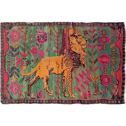 "Vintage Armenian Rug,4'6""x6'8"""