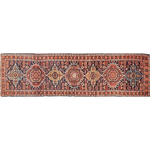 "Antique Persian Heriz Runner,2'9""x10'5"""