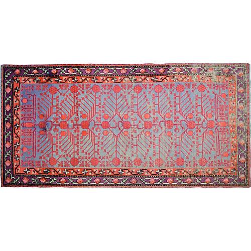 "Antique Khotan Rug,4'6""x9'3"""