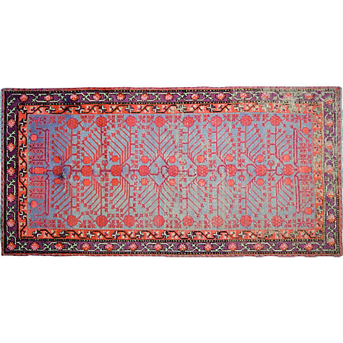 "Antique Khotan Rug,4'6""x9'3"""