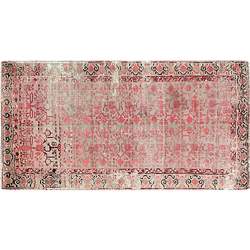 "Antique Khotan Rug,4'3""x8'4"""