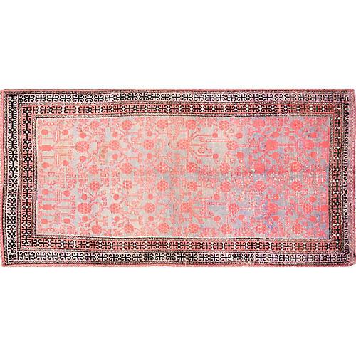 "Antique Khotan Rug,4'x8'1"""