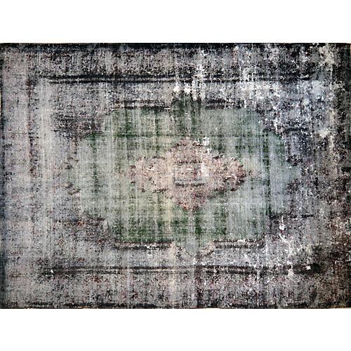"""Vintage Persian Kerman Rug,10'3""""x14'"""