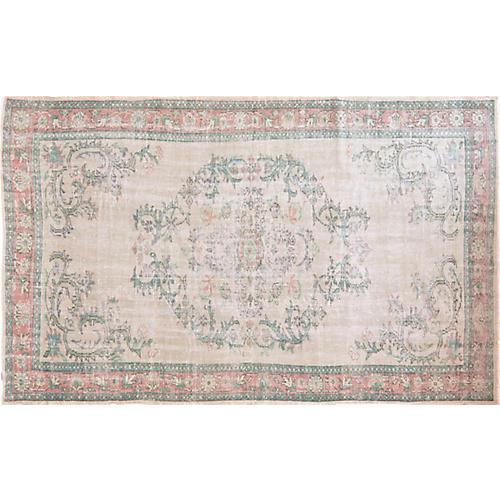 """Vintage Turkish Rug,5'8""""x9'3"""""""