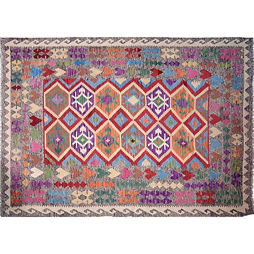 Afghan Maimana Kilim,6'9''x9'7''