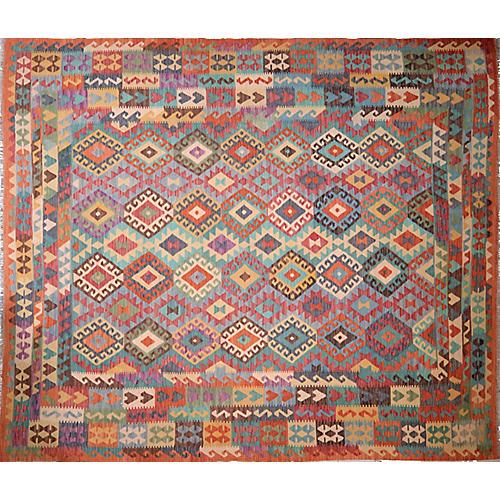 Vintage Afghan Maimana Kilim,8'5'x9'10''