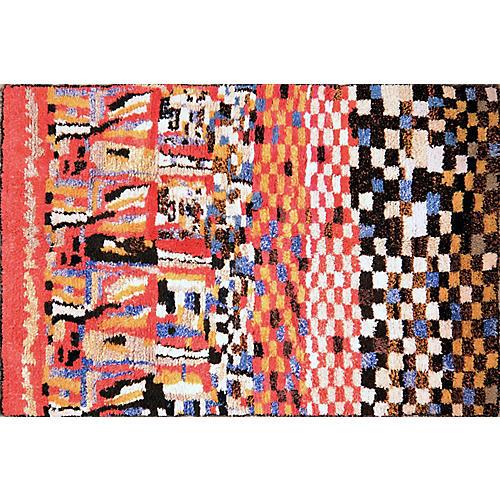 Vintage Moroccan Boucherite Rug,6'2'x10'