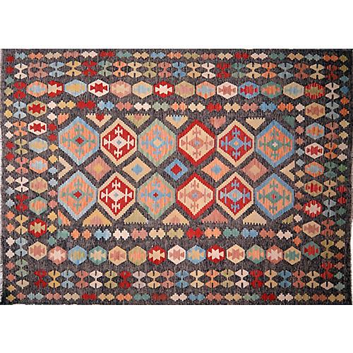 "Afghan Maimana Kilim,7'x9'7"""