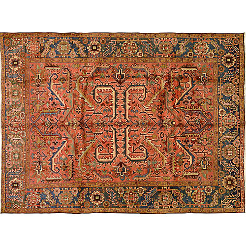 Antique Persian Heriz Rug,7'3x9'9