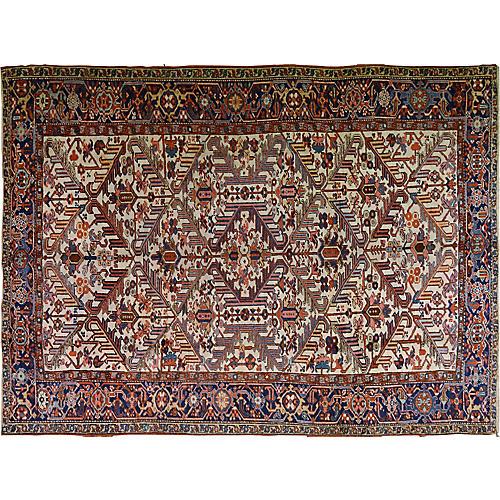 """Antique Persian Heriz Rug, 8'3"""" x 11'"""