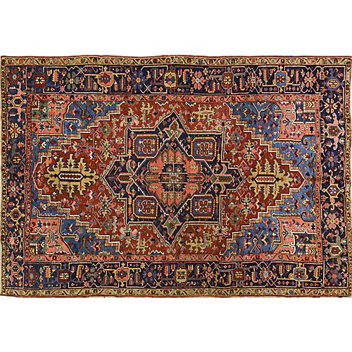 """Antique Persian Heriz Rug, 6'10"""" x 9'10"""""""