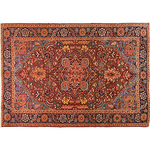 Antique Persian Heriz Rug,6'10x9'9