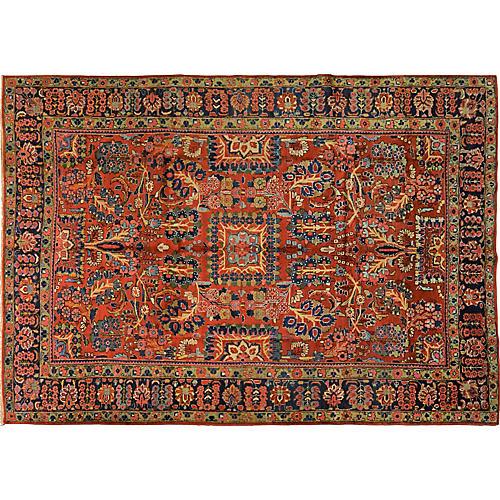 """Antique Persian Mahal Rug, 7'3"""" x 10'4"""""""