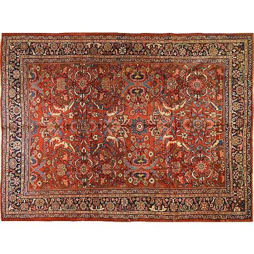 """Antique Persian Mahal Rug, 8'10"""" x 12'"""