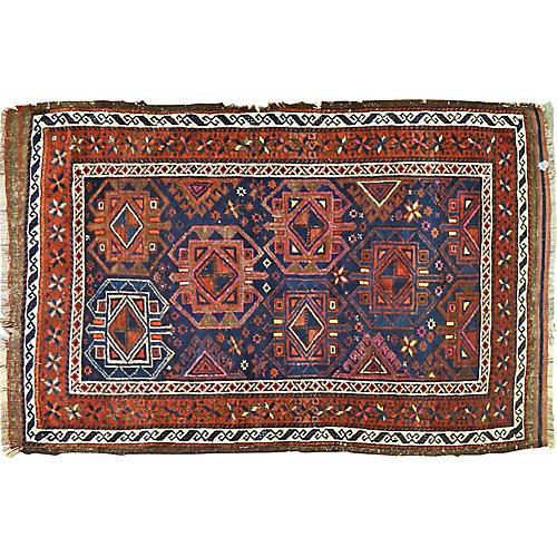 "Antique Afghan Baluch Rug,2'11""x4'7"""