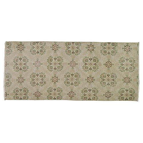 """Turkish Art Deco Rug, 2'11"""" x 6'9"""""""