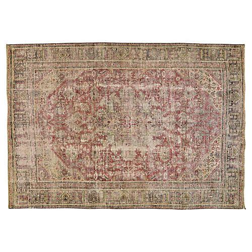"""Persian Tabriz Rug, 6'2"""" x 9'"""