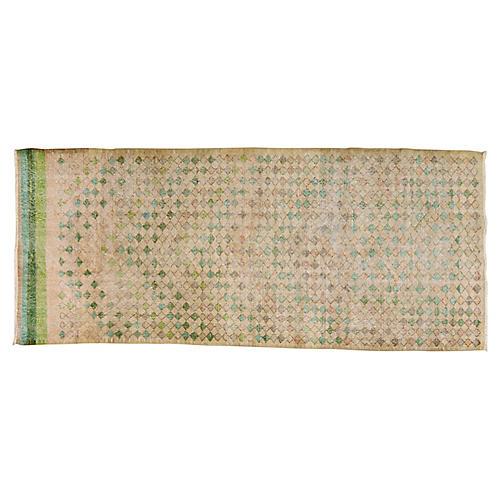 """Turkish Art Deco Rug, 3'11"""" x 9'2"""""""