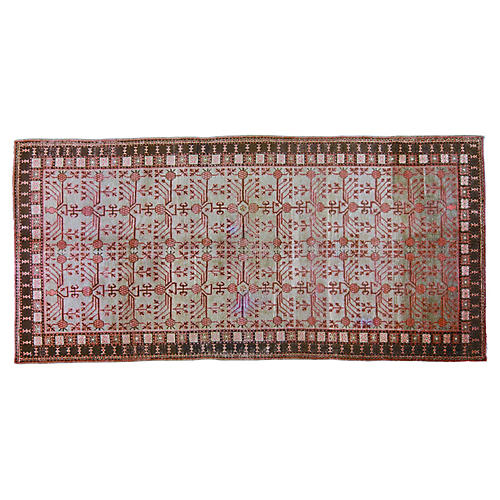 "Antique Khotan Rug,6'x12'4"""