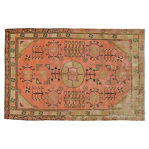 "Antique Khotan Rug, 4'7"" x 7'"