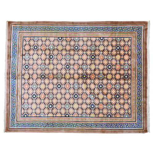 """Antique Chinese Rug, 8' x 10'1"""""""
