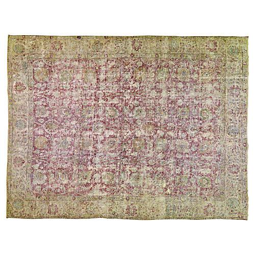 Persian Tabriz Rug, 9'1 x 12'