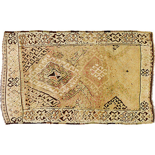 "Turkish Anatolian Rug, 4' x 6'1"""