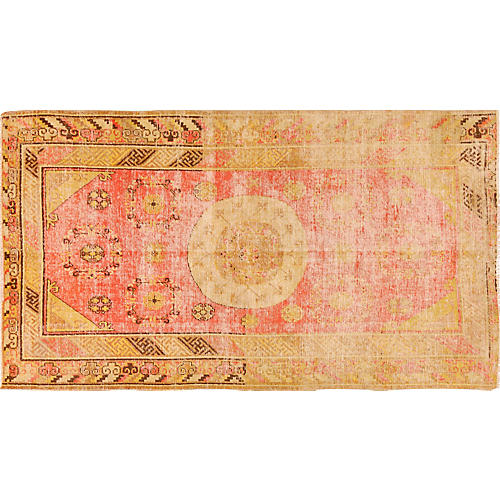 "Antique Khotan Rug, 4'3"" x 7'6"""