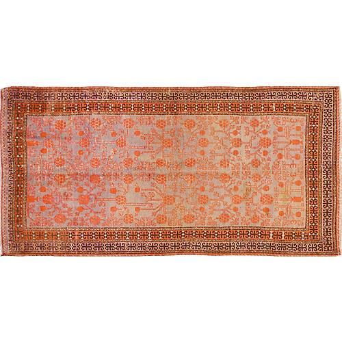 "Antique Khotan Rug, 3'10"" x 8'"