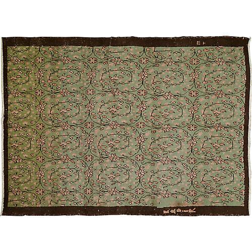 """Turkish Art Deco Rug, 5'4"""" x 7'4"""""""