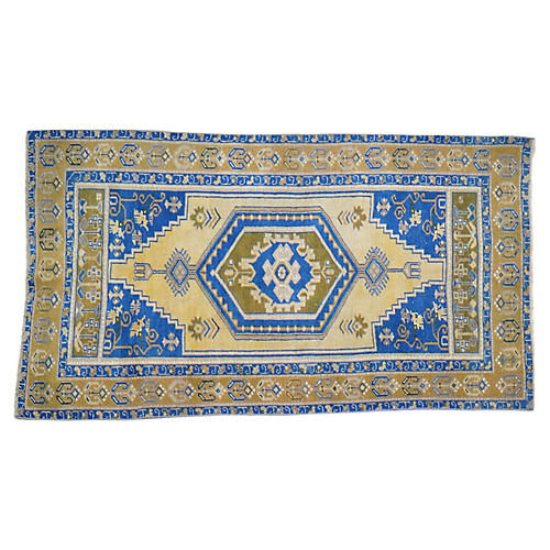 "Turkish Oushak Rug - 3'4""x5'10"""