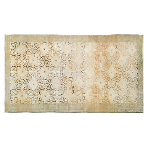 "Turkish Art Deco Rug - 3'8""x6'8"""
