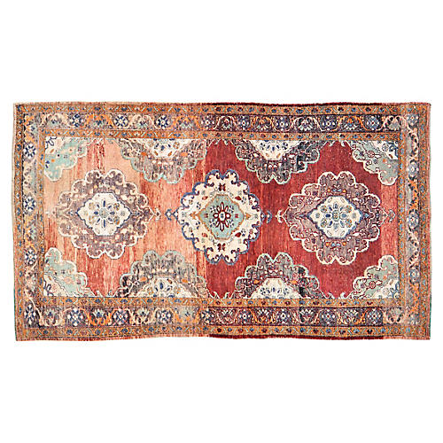 "Turkish Oushak Rug - 4'4""x7'9"""