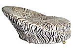 1970s Zebra-Print Chair