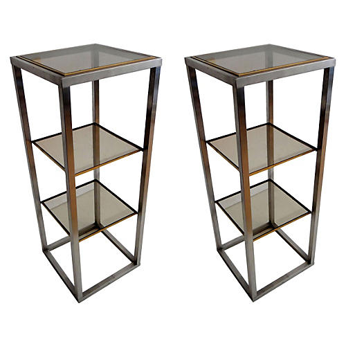 Maison Bagues Side Tables, Pair
