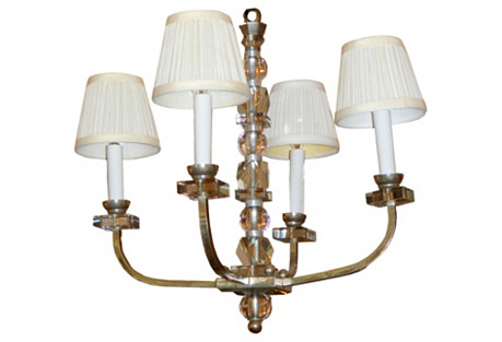 Jacques Adnet 4-Light Chandelier