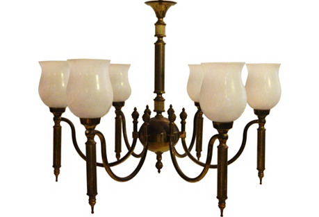 1940s Neoclassical-Style Chandelier